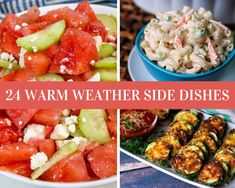 24 Warm Weather Side Dishes Grilled Corn Salad, Grilled Asparagus, Grilled Vegetables, Veggies, Summer Side Dishes, Side Dishes Easy, Steak Kabobs, Chickpea Salad Recipes, Pinch Recipe