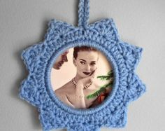PATTERN: Crochet Round Shell Stitch Picture Frame por JessesMomus