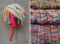 ao with <3 / how to make your own color changing yarn DRAADJES over... Aan mekaar knopen en een deken haken!
