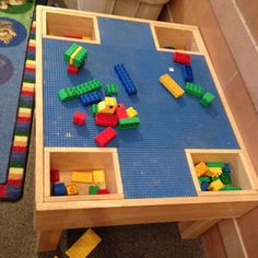 Cute Lego table for a kid-friendly area of the fellowship hall.