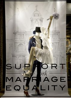 marriage equality mannequins by Levi Strauss Visual Display, Display Design, Store Design, Same Love, I Love Ny, Store Displays, Window Displays, Retail Displays, Shopping