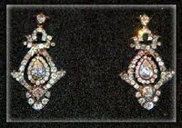These are the diamond earrings   that Diana wore on her wedding   day on July 29th 1981 for   her marriage to Prince Charles.  The earrings belonged to her mother, Frances Shand-Kydd. She lent them to Diana so she could wear them on her wedding day as   'something borrowed.'