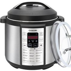 COSORI Multifunctional Programmable Electric Pressure Cooker, Rice Cooker, Slow Cooker with Stainless Steel Inner Pot, 6 Quart 10 Quart Pressure Cooker, Digital Pressure Cooker, Pressure Cooker Recipes, Pressure Cooking, Electric Pressure Cooker Reviews, Yogurt Maker, Cooking Temperatures, Small Appliances, Kitchen Appliances