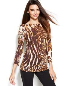 Animal print, different, casual with jeans could where anywhere