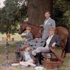 Diana, Prince Charles, Prince Harry and Prince William