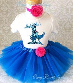 Fast Ship  Birthday Jewel Rio Blue Bird by BirthdayTutuOutfits