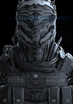 Sci-Fi Character Design In ZBrush - teaser, Riyahd Cassiem Cyberpunk, Robot Concept Art, Armor Concept, Concept Ships, Sun Tzu, Tattoos Bras, Armadura Sci Fi, Robot Militar, Character Concept