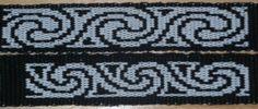 Card weaving. Double-face. Swirls