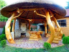 Awesome Gazebo Backyard Ideas - javgohome-Home Inspiration Backyard Lighting, Outdoor Lighting, Gazebo Decorations, Outdoor Rooms, Outdoor Decor, Outdoor Ideas, Fire Pit Seating, Fire Pit Backyard, Outdoor Kitchen Design