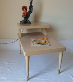 Vintage Mid Century Modern End Table Side by alsredesignvintage, $53.00