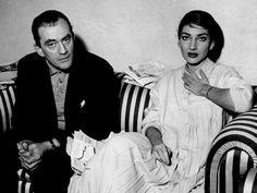 MARIA CALLAS Y LUCHINO VISCONTI EN ROMA 1958.