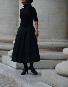 Mimosa The Selvedge Skirt from SAAT #skirt #Black#paris