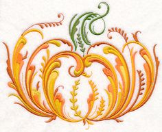 Rosemaling Pumpkin design (M9167) from www.Emblibrary.com