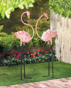 Flamingo Garden Stakes $84