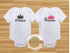 Check out this item in my Etsy shop https://www.etsy.com/listing/264642242/princeprincess-baby-onesies