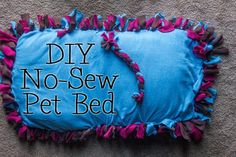 DIY No-Sew Pet Bed with Purina Dog Chow Natural #MyPetMyStar