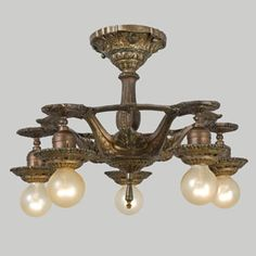 I grew up in a house built in 1911 and we had this fixture in our dining room! Rejuvenation Hardware reproduction.