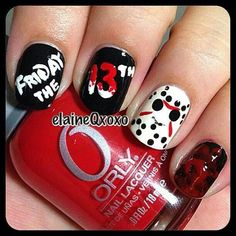 this is super cool! I just need to stop biting my nails. Get Nails, Love Nails, How To Do Nails, Pretty Nails, Hair And Nails, Halloween Nail Designs, Halloween Nail Art, Beautiful Nail Designs, Cool Nail Designs