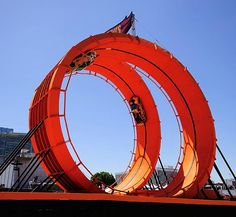 Team Hot Wheels drivers, Tanner Foust and Greg Tracy set a Guinness World Record racing two vehicles through a six-story double vertical loop at the 2012 X Games in Los Angeles! It's Hot Wheels for real!