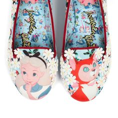 Day dreaming amid the daisies of a glittering journey? These will transport you there. ʻCuriouser' Limited edition Irregular Choice - Alice in Wonderland collection gently drifting into stores worldwide TOMORROW 12pm! #IrregularAlice www.irregularchoice.com