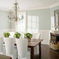 Corner Fireplace, Cottage, dining room, Benjamin Moore Wickham Gray, Benjamin Moore