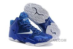 new style b1f5c 0519d Nike LeBron 11 Blue-White Cheap To Buy MCrix