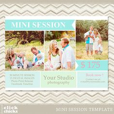 Mini Session  Photography Marketing Template by ClickChicksDesigns, $8.00