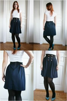 I love this! A little longer and its a perfect mission skirt!!!!