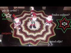 Pie de árbol,manta, carpeta,o cojines navideños - YouTube