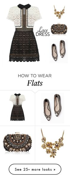 """Lovely Lace Dress"" by ch-swisss on Polyvore featuring self-portrait, Boden and Lipsy"