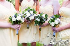 Light and airy colors for these gorgeous dresses and flowers
