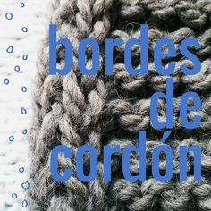 Aprende a tejer los bordes en cordón: estabiliza el tejido, evita que se enrolle y refuerza los bordes! #tutorial #video