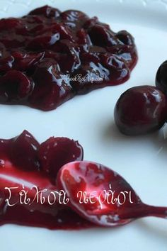 Cherry Sauce, Greek Sweets, Happy Foods, Food Website, Greek Recipes, Vegan Desserts, Love Food, Sweet Tooth, Food And Drink
