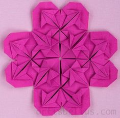 As I mentioned in my previous post, Hearts can be connected in groups of four to create Heart Flowers of beautiful patterns, like the ones i...