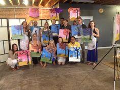 Your Art Party Phoenix wine and paint corporate team builder paint party!