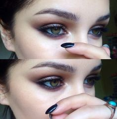 soounds: lickgold: Purple on my eyes Oh my god ya I'm gunna have my sis do this on me