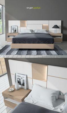 Ideas bedroom bed design comforter for 2019 Bed Headboard Design, Bedroom Furniture Design, Master Bedroom Design, Headboards For Beds, Bed Furniture, Home Bedroom, Trendy Bedroom, Modern Bedroom, Double Bed Designs