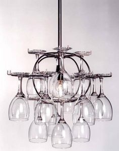 Wine Gl Storage That Doubles As A Chandelier Sweet