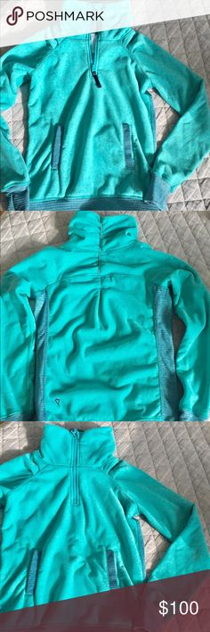 Ivivva half-zip fleece pull over jacket. Size 10 Ivivva half-zip fleece pull over jacket. Size 10. Teal. Super warm and cozy in beautiful bright teal tones. Your daughter will feel amazing in this girls Lululemon brand. Excellent used condition. Ivivva Jackets & Coats