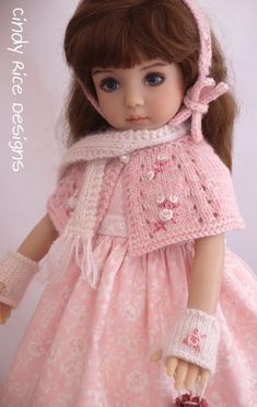 """""""Love-ly and Sweet"""", a handmade OOAK ensemble made for Dianna Effner's Little Darling dolls, cindyricedesigns.com"""
