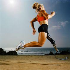 Sarah Reinertsen, amputee athlete. Commitment.