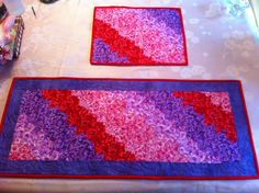 Fractured Quilt pattern.  Place mat and table runner.