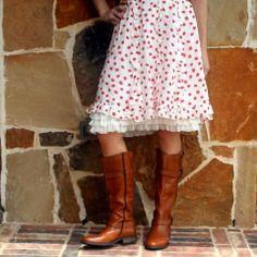 Ivory Three-Tiered Chiffon Ruffle Extender Slip | Skirt Extender Slips | A Slip Shop
