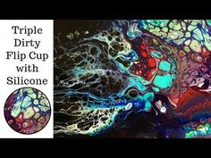 Acrylic Paint Dirty Pour - Upside down Bowl Flip 1 - YouTube