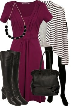 Jersey-dress-and-blazer-with-tights-and-boots-work-smart-casual-outfit_brand_image Source by atyn fashion clothing Business Casual Attire, Business Outfits, Business Fashion, Work Fashion, Cute Fashion, Fashion Outfits, Womens Fashion, Fashion Trends, Smart Casual Outfit