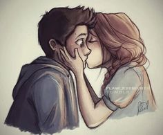 love cute couple drawing - Google Search