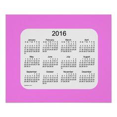 2016 Violet Wall Calendar by Janz Print Poster