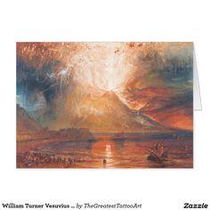 William Turner Vesuvius in Eruption waterscape art Card