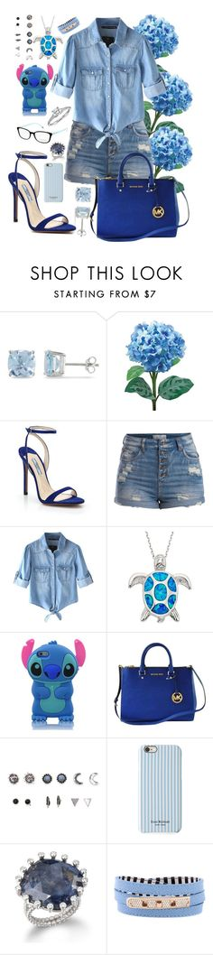 """""""Blue"""" by littlearia ❤ liked on Polyvore featuring Ice, Laura Cole, Prada, Pieces, Chicnova Fashion, Michael Kors, Tiffany & Co., With Love From CA, Isaac Mizrahi and Henri Bendel"""