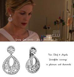 Gossip Girl-Lily van der Woodsen-Van Cleef & Arpels Snowflake earrings